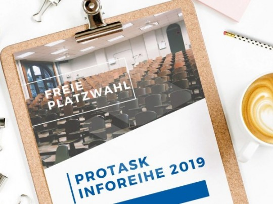 Rückblick proTask Inforeihe 2019 - Blockchain, SAP Analytics Cloud und SAP Ariba Snap: